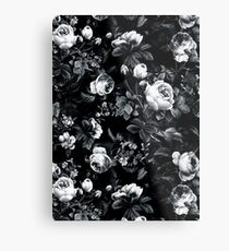 Rosen Schwarz und Weiß Metalldruck