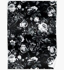 Rosen Schwarz und Weiß Poster