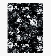 Roses Black and White Photographic Print