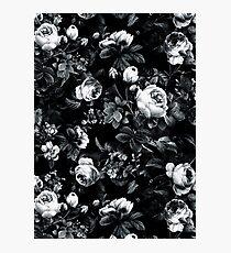 Lámina fotográfica Rosas en blanco y negro