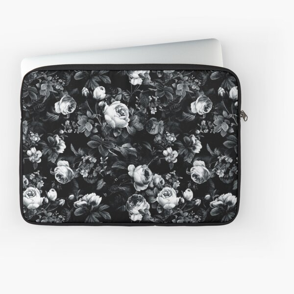 Roses Black and White Laptop Sleeve