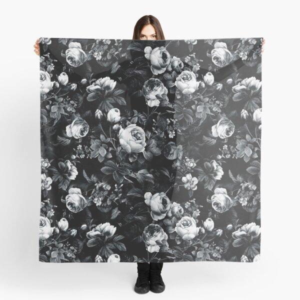 Rosen schwarz und weiß Tuch
