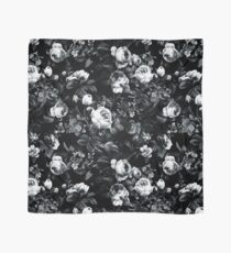 Roses Black and White Scarf