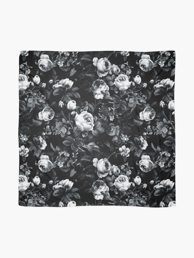 Alternate view of Roses Black and White Scarf