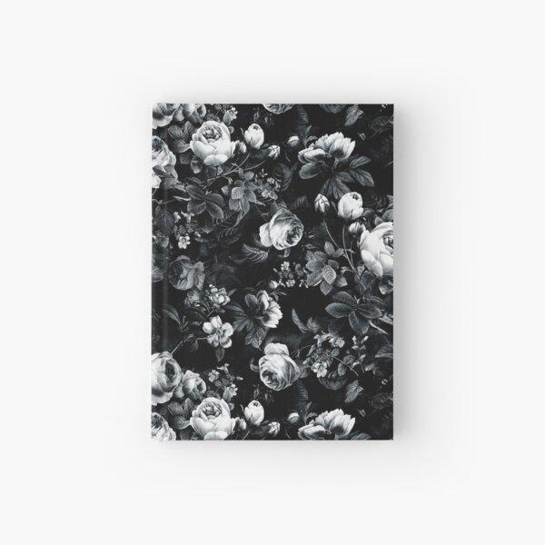 Roses Black and White Hardcover Journal