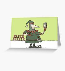 Elfie Selfie Greeting Card