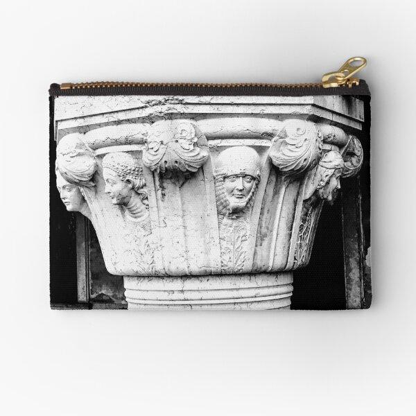 Stone Faces, Venice, Italy Zipper Pouch