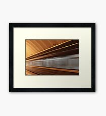 train with motion blur Framed Print