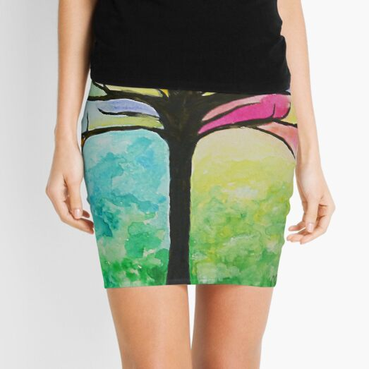 Stained Glass Tree Mini Skirt