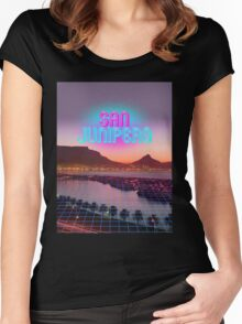 San Junipero - Black Mirror Women's Fitted Scoop T-Shirt