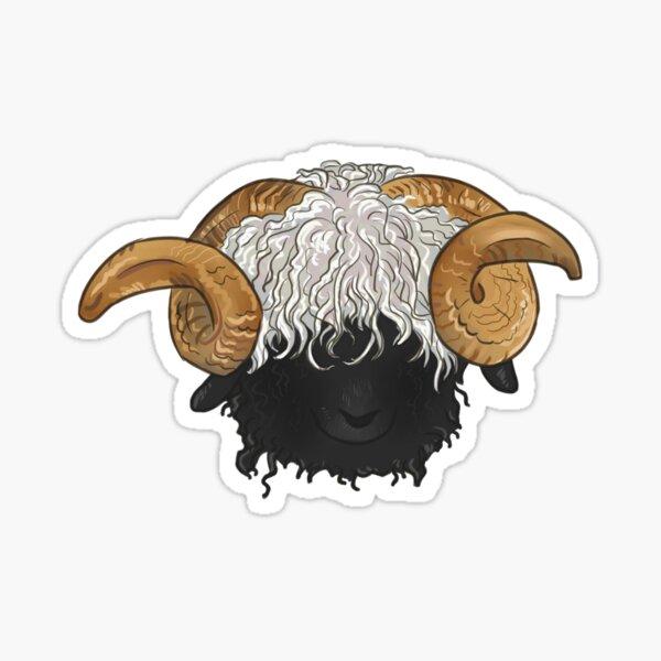 Valais Blacknose Sheep Sticker
