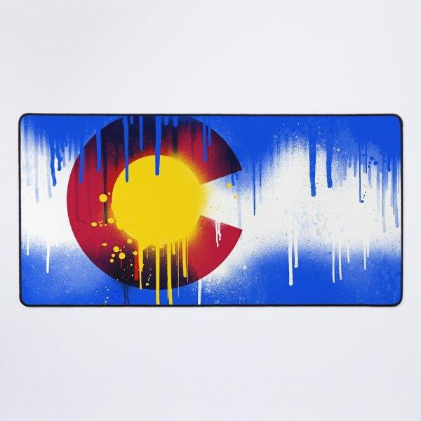 Drippy Colorado Flag Desk Mat