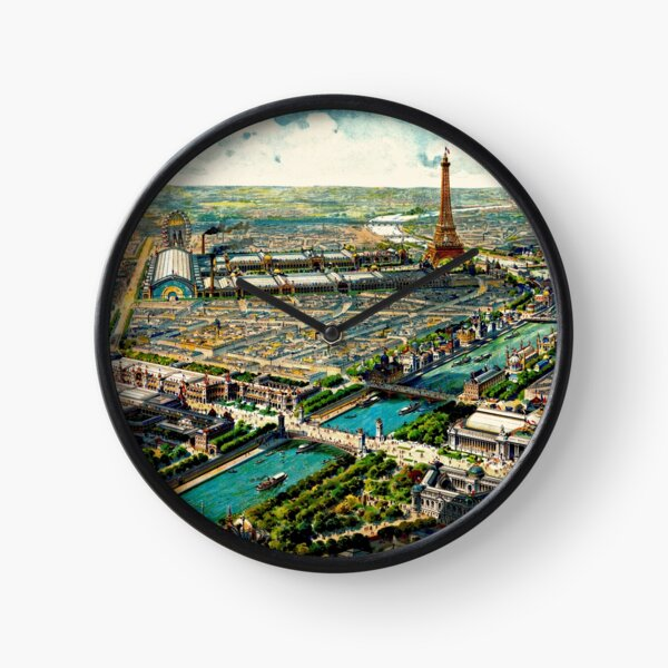 Paris Panoramic View 1900 World Expo Clock