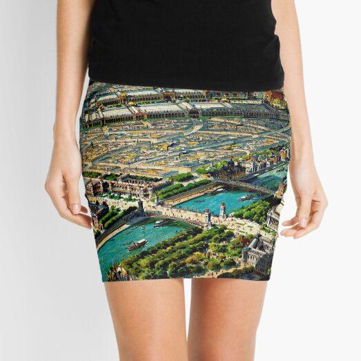 Paris Panoramic View 1900 World Expo Mini Skirt