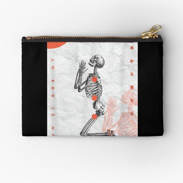 Skeleton Tokyo Japanese Streetwear Aesthetic Street Graphic Zipper Pouch
