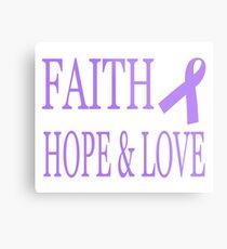 Faith Hope & Love All Cancers Lavender Ribbon  Metal Print