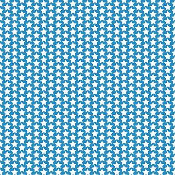Blue star pattern by Lukovka