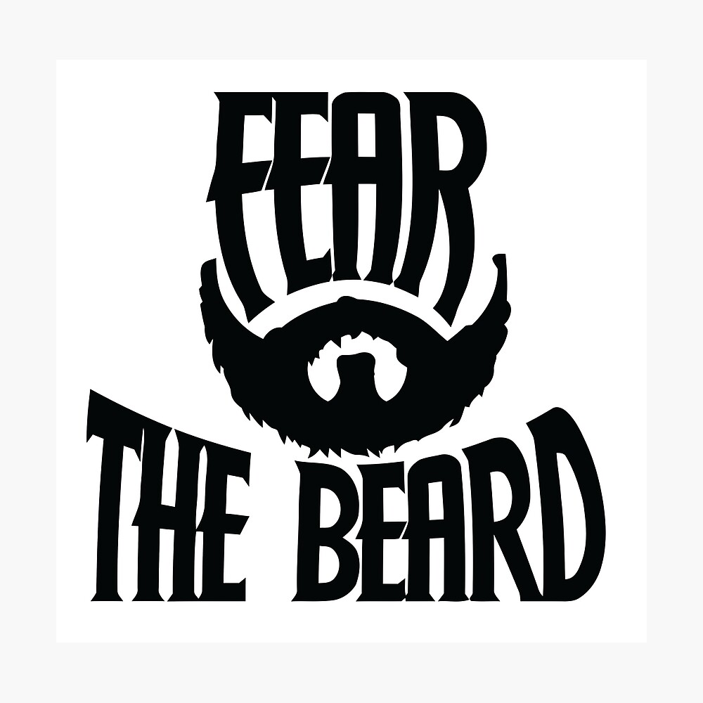 Temer la barba Lámina fotográfica