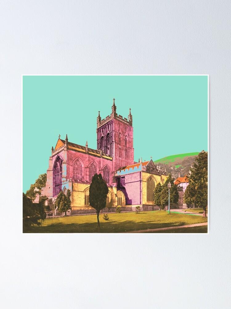 Alternative Ansicht von Great Malvern Priory England Poster