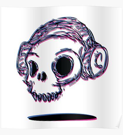 3D Skull Poster
