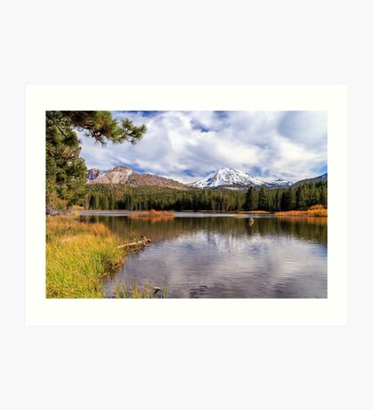 Manzanita Lake - Mount Lassen Art Print