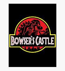 Bowser's Jurassic Castle Photographic Print