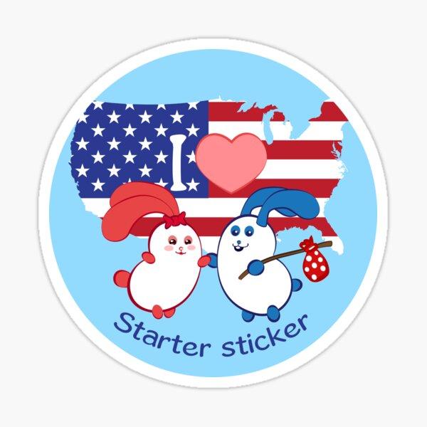 Ernest and Coraline | I love USA Sticker