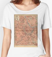 Vintage Map of Vienna Austria (1920) Women's Relaxed Fit T-Shirt