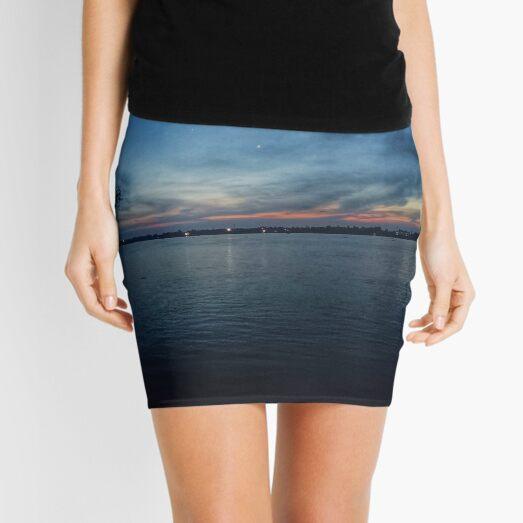 Night View Landscape Mini Skirt