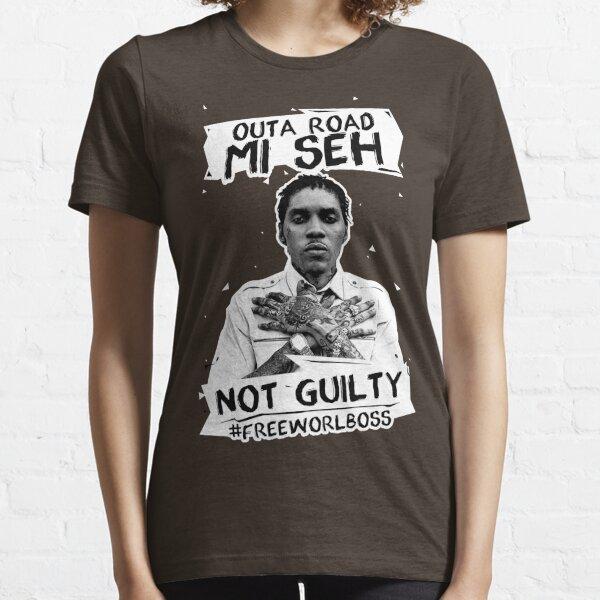 Aus einer Straße #FREEWORLBOSS WHITE Essential T-Shirt