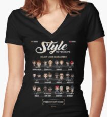Style | The Videogame Women's Fitted V-Neck T-Shirt