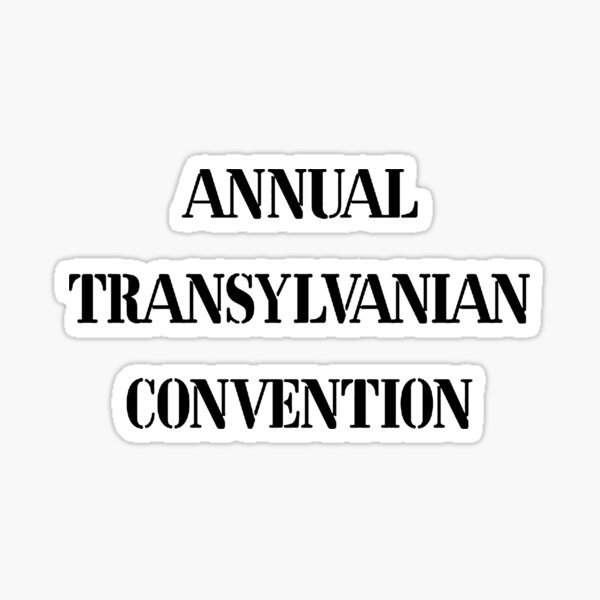 Annual Transylvanian Convention 1 Sticker