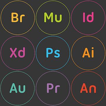 Adobe CC Circle Letters Dark by lnd310