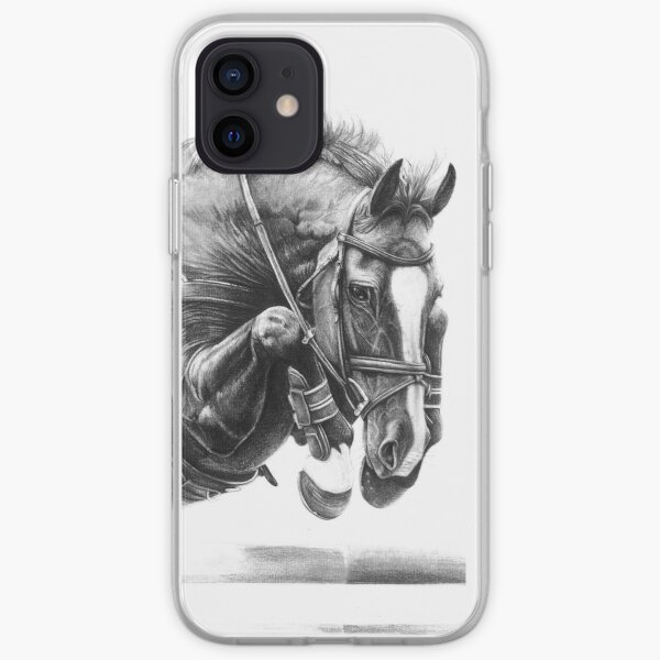 Attraper l'air - Cheval d'obstacle Coque souple iPhone