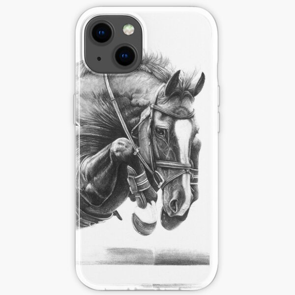 Catching Air - Showjumping Horse iPhone Soft Case