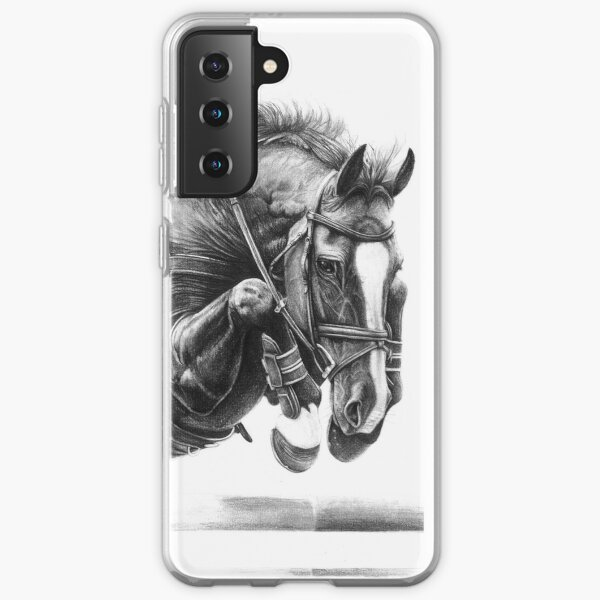 Catching Air - Showjumping Horse Samsung Galaxy Soft Case