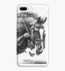 Catching Air - Showjumping Horse iPhone 8 Plus Case