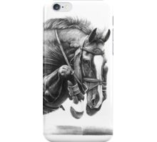 Catching Air - Showjumping Horse iPhone Case/Skin
