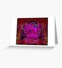 RED LACE (BUDDHA Series Var.) Greeting Card