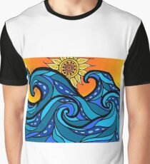 swirling waves Graphic T-Shirt