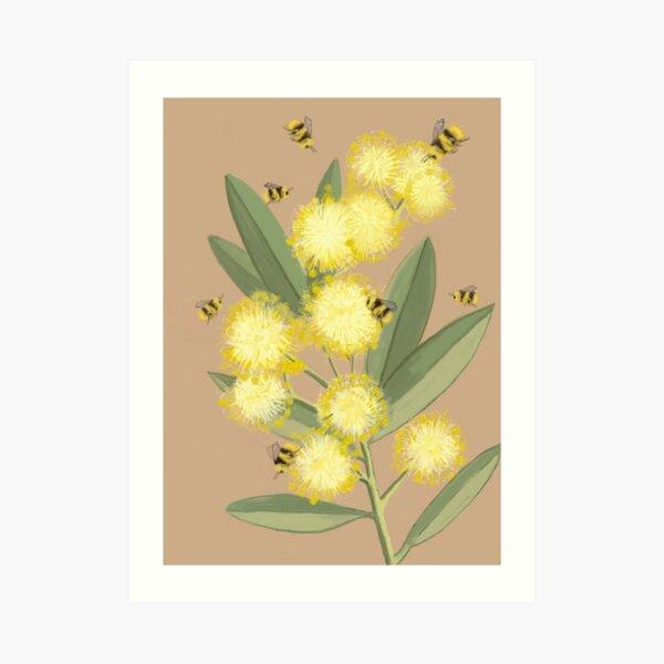 Wattle it Bee Art Print