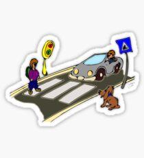 Crosswalk Sticker