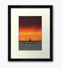 Red Skies at Night Framed Print