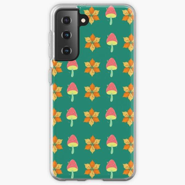 Autumn Flower and Mushroom Pattern Samsung Galaxy Soft Case