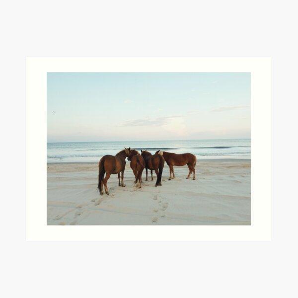 Coastal Horse Meeting Art Print