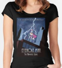 Eyehole Man - The Animated Series (parody) Women's Fitted Scoop T-Shirt