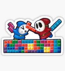 Shy Guys Playing Tetris Sticker