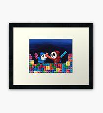 Shy Guys Playing Tetris Framed Print