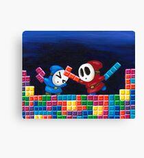 Shy Guys Playing Tetris Canvas Print