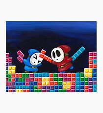 Shy Guys Playing Tetris Photographic Print